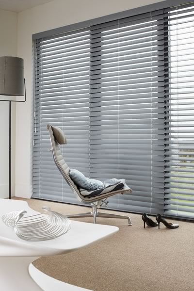 Gloss Finish Wooden Blinds in Essex
