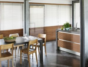 Natural Wood Blinds in Essex